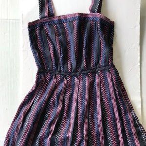 Marc By Marc Jacobs Pleated Silk Blend Dress Sz 0